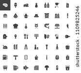 barbecue vector icons set ... | Shutterstock .eps vector #1109825246