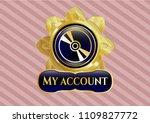 gold shiny emb golden emblem... | Shutterstock .eps vector #1109827772