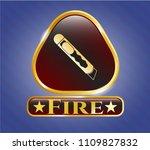 golden emblem  gold emblem... | Shutterstock .eps vector #1109827832