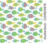 seamless pattern with striped... | Shutterstock .eps vector #1109829878