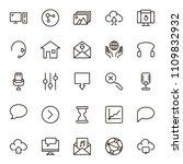 social media icon set....   Shutterstock .eps vector #1109832932