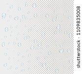 water rain drops. illustrations ... | Shutterstock .eps vector #1109835008