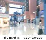traveler walking at the airport ... | Shutterstock . vector #1109839238