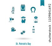 saint patricks day isolated... | Shutterstock .eps vector #1109841692