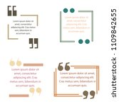 quote box text template vector... | Shutterstock .eps vector #1109842655