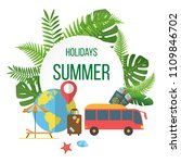 summer holidays colorful poster ... | Shutterstock .eps vector #1109846702