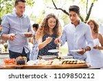 family celebration or a garden... | Shutterstock . vector #1109850212