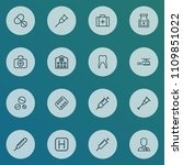 drug icons line style set with... | Shutterstock .eps vector #1109851022