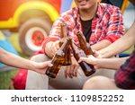 travel group of friends enjoy... | Shutterstock . vector #1109852252