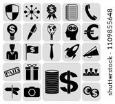 set of 22 business icons ... | Shutterstock .eps vector #1109855648