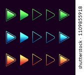 arrows logo vector set  play...