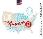 god bless america. greeting... | Shutterstock .eps vector #1109861432