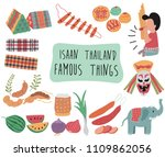 thailand travel element with... | Shutterstock .eps vector #1109862056