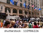 new york   august 24   people... | Shutterstock . vector #110986226
