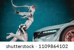 automotive technology.robot... | Shutterstock . vector #1109864102