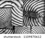 creative wood block pattern | Shutterstock . vector #1109870612