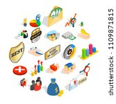manual icons set. isometric set ... | Shutterstock .eps vector #1109871815