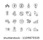 simple money set icons vector   Shutterstock .eps vector #1109875535