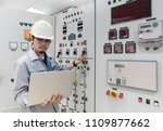 engineer working and check... | Shutterstock . vector #1109877662