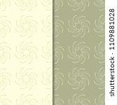olive green floral backgrounds. ... | Shutterstock .eps vector #1109881028