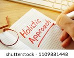 hand is writing holistic... | Shutterstock . vector #1109881448