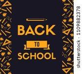 back to school design... | Shutterstock .eps vector #1109882378