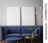 living room interior wall mock... | Shutterstock . vector #1109884742