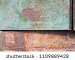 rusted iron pattern  | Shutterstock . vector #1109889428