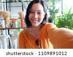selfie asian woman  self...   Shutterstock . vector #1109891012