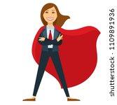 superwoman in formal office... | Shutterstock .eps vector #1109891936