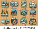 set of summer camp badges on... | Shutterstock .eps vector #1109896868