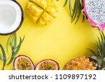 Tropical Fruits Mango  Pitayam...