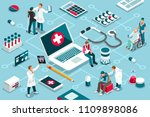treatment  clinic assistance on ... | Shutterstock .eps vector #1109898086