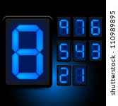 digital led numbers. grouped... | Shutterstock .eps vector #110989895