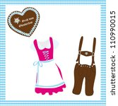 oktoberfest   dirndl and... | Shutterstock .eps vector #110990015