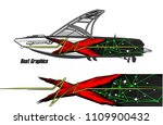 boat decal graphic vector for...   Shutterstock .eps vector #1109900432