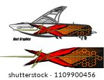 boat decal graphic vector for...   Shutterstock .eps vector #1109900456