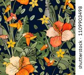 trendy floral pattern. isolated ...   Shutterstock .eps vector #1109903498