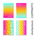 minimal covers design. colorful ... | Shutterstock .eps vector #1109906972
