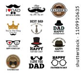 happy father's day greeting... | Shutterstock .eps vector #1109910635