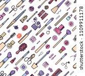 makeup seamless pattern.... | Shutterstock .eps vector #1109911178