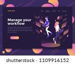 modern flat design isometric... | Shutterstock .eps vector #1109916152