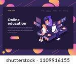 modern flat design isometric... | Shutterstock .eps vector #1109916155