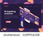 modern flat design isometric... | Shutterstock .eps vector #1109916158