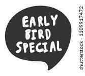 early bird special. sticker for ... | Shutterstock .eps vector #1109917472