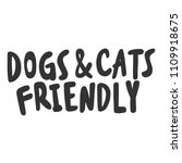 Dogs   Cats Friendly. Sticker...