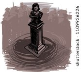 landmarks of sofia   pushkin... | Shutterstock .eps vector #1109926226