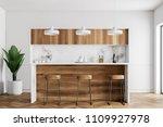 kitchen corner with white walls ... | Shutterstock . vector #1109927978