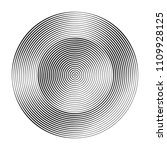 monochrome concentric circles... | Shutterstock .eps vector #1109928125