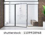 brick modern bathroom interior...   Shutterstock . vector #1109928968